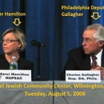 SNAP Marci Hamilton and Philly D.A. Charles Gallagher 2008