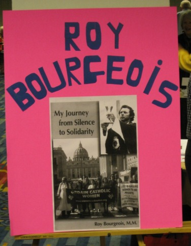 Roy Bourgeois poster :: Voice of the Faithful Conference, Boston, 2012