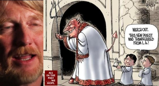 David Horsey anti-Catholic Los Angeles Times