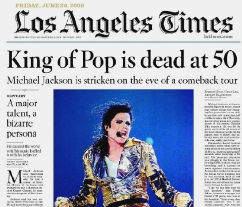 Image result for michael jackson dead headlines