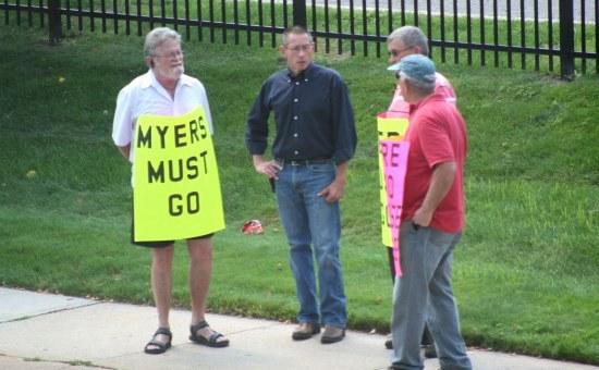 NJ Archbishop Myers resignation rally, 082013