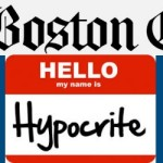 Boston Globe hypocrisy