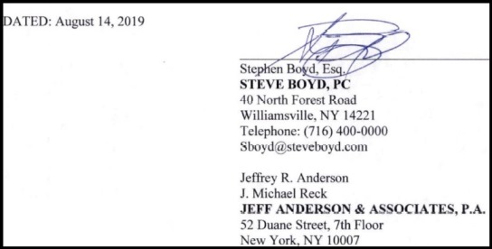 2019 Steve Boyd signature
